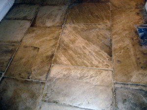 Newly restored stone floors