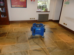 flagstone floor drying equipment