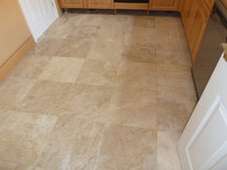 cleaning travertine natural stone floor