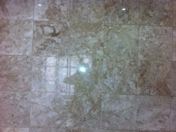 After marble floor restoration