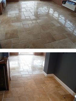 Travertine Floor Tile Cleaning Leeds
